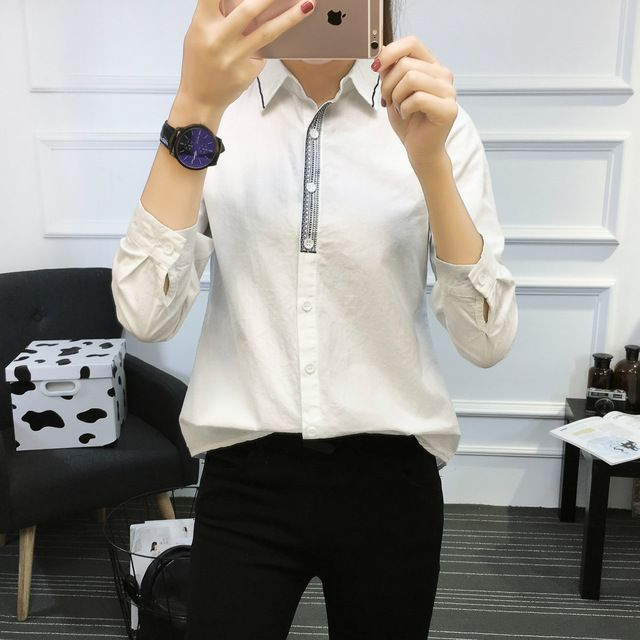 Embroidered Blouse Women Cotton Shirt
