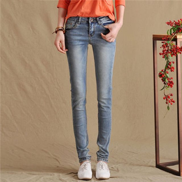 Elegant Pants Women Trousers Jeans Plus Size Push Up Womens Stretch Jeans Elastic Waist Mujer Denim Rziv Ladies Costume 60G051