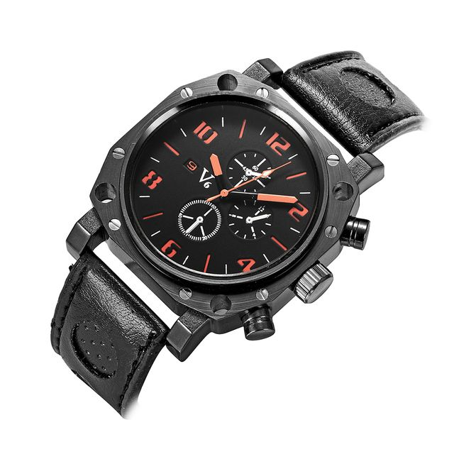 V6 simple Leisure brand quartz watch high quality silicone men's watch outdoor sports watches top brand luxury reloj hombre