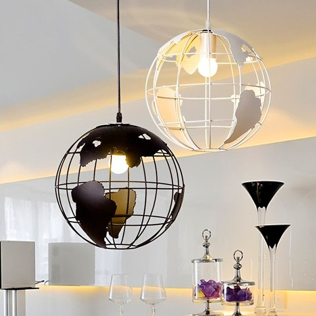 Loft Style Iron Globe Droplight Industrial Vintage Pendant Light Fixtures For Dining Room Hanging Lamp Indoor Lighting