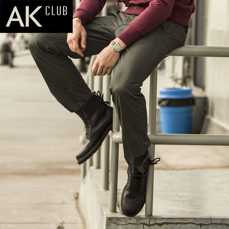 AK CLUB Brand Pants 2017 Draping Secret Agent Pants Military Style Men Pants Army Laminated Fabric Cotton Casual Pants 1212226