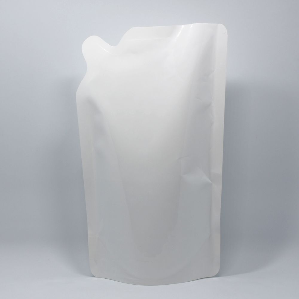 15*24cm 600ml 25Pcs/ Lot White Plastic Doypack Pouch Liquid Stand Up Poly Storage Bag Laundry Detergent Hand Washing Pocket