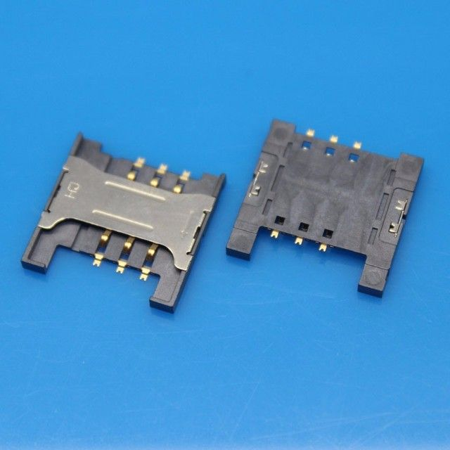 cltgxdd 10pcs/lot SIM Card Slot Reader Holder Connector SIM Card Socket for ZTE U880 N880 U830 U506 v880