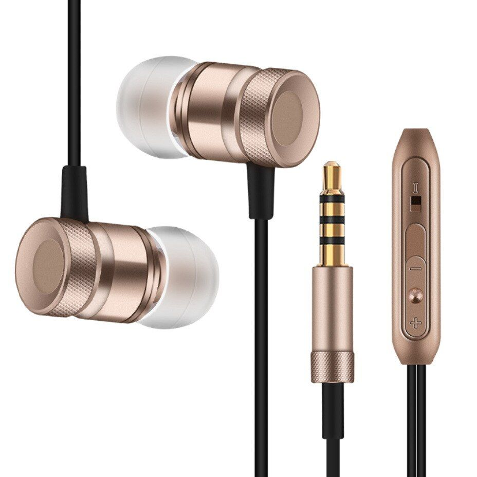 Professional Earphone Metal Heavy Bass Music Earpiece for iRu School transformer Intro 106 fone de ouvido