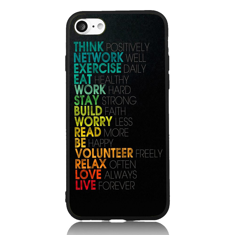 Colorful Text Series For iPhone 6 6s 7 Plus Case TPU Phone Cases Cover Mobile Protection Decor Gift