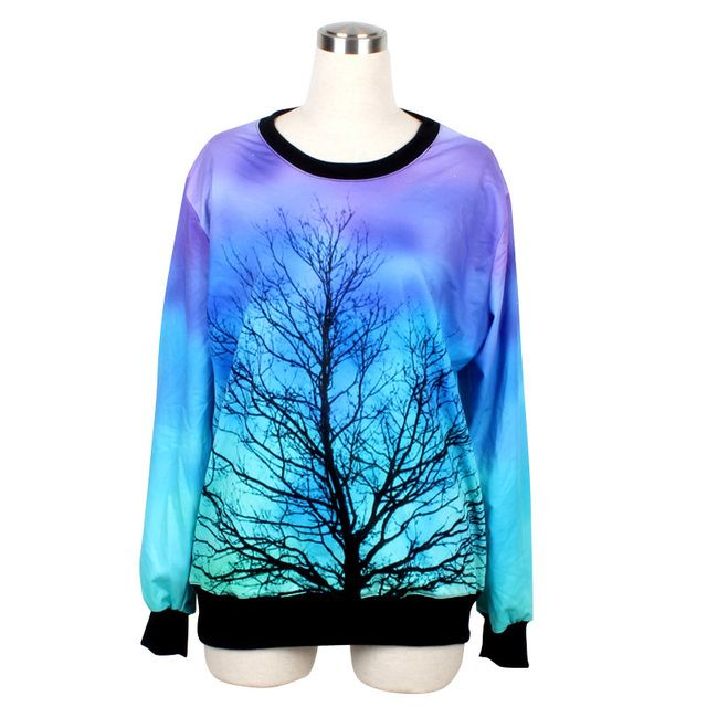 Women spring autumn colorful digital printing turtleneck pullovers full sleeves loose polyester casual sweatshirt Lovers hoodie