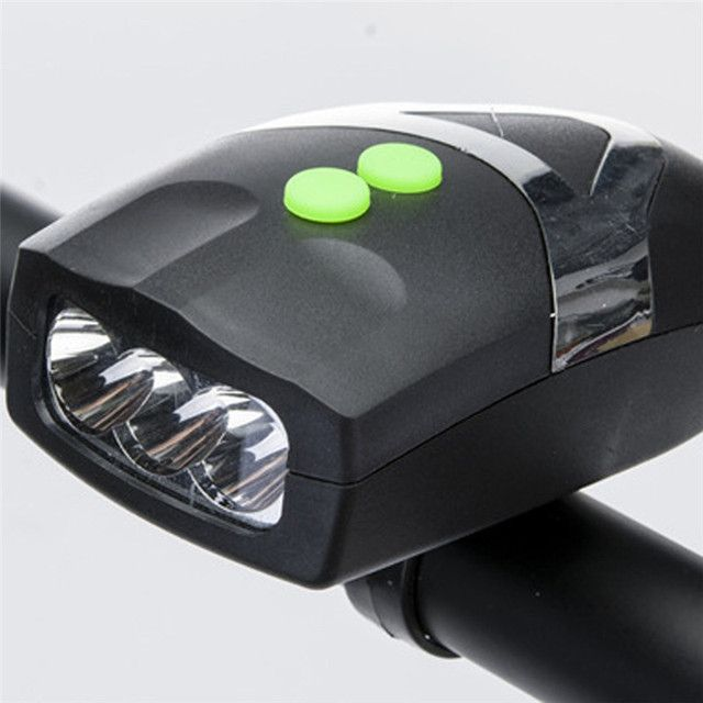 Ultra Bright 3 LED Bike Bicycle Light Bicicleta White Front Head Light Lamp With Cycling Electronic Bell Horn Hooter Siren