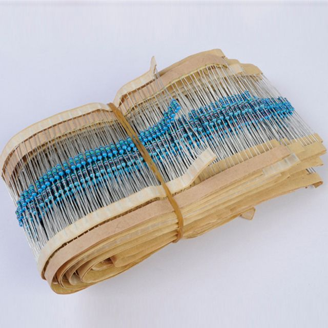 2100 1/4w Resistance Pack 5% 21 kinds each 100 Colored Ring Resistance Component Kits Metal Film Resistors