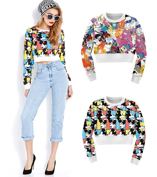 EAST KNITTING woman's sweatshirt harajuku  hoodies sexy crop top long-sleeve punk hip-hop hoodies Short sweatshirt