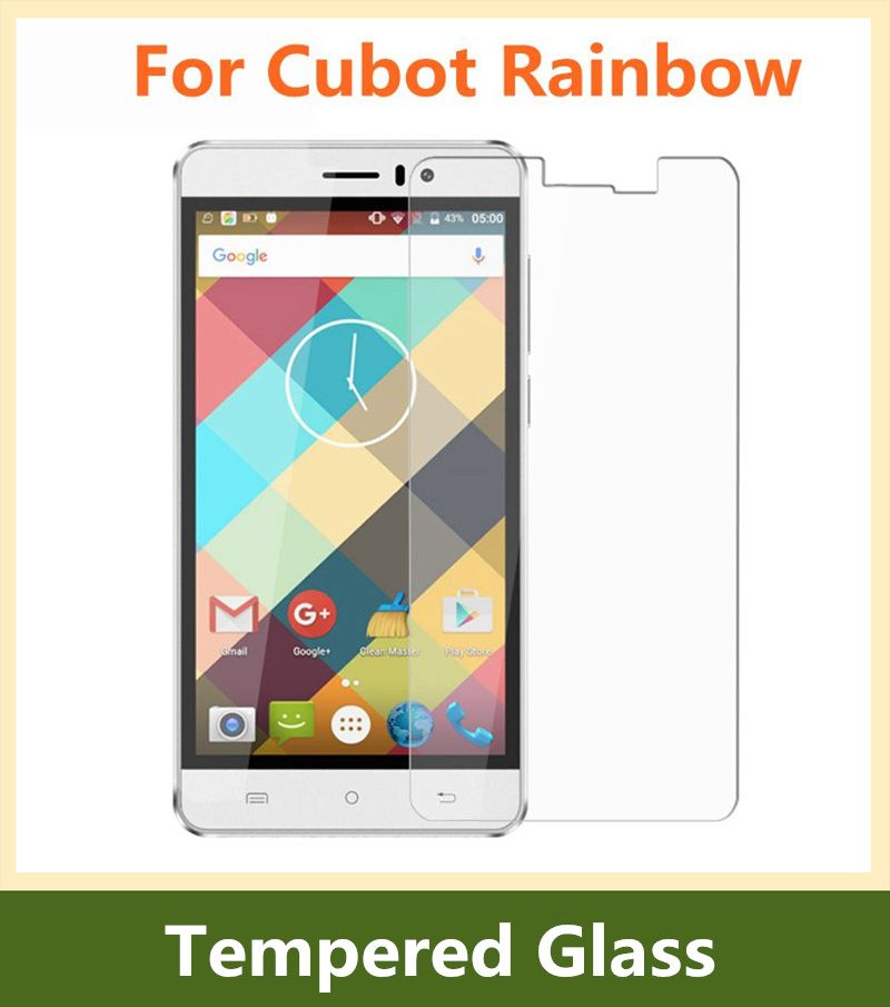 9H Cubot Rainbow Tempered Glass Film Original Thin Screen Protector Front Glass Film For Cubot Rainbow Cellphone Free Shipping