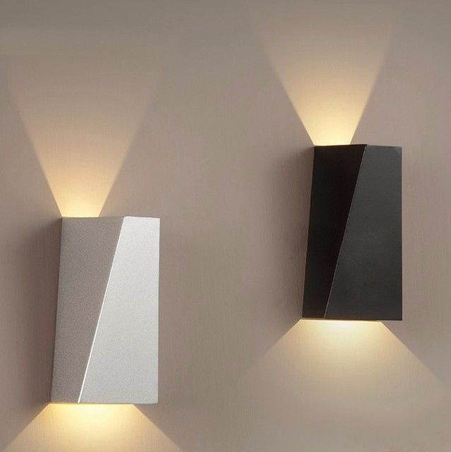 Indoor Led Wall Sconce Modern Iron Wall Lamp Bedroom Bedside Lamp Wall Lamp Stair Aisle Light 10W Art Deco Lighting