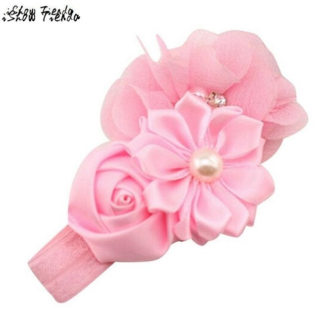 Lace Headband Kids Flower Pattern Hair Accessories For Girls Princess Hairband Accessoire Cheveux #1022