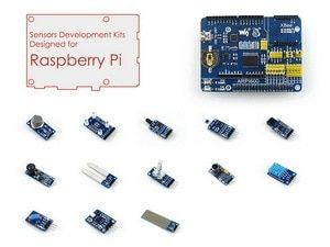 Raspberry Pi Accessories Pack D for Raspberry Pi 3B, 2B, A+,B+ including ARPI600 Expansion Board and Various Sensor Modules