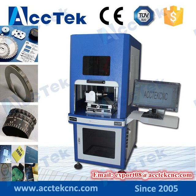 Full enclosed structure 30w fiber laser marking machine/ cheap cnc laser marker/ laser marking machine price