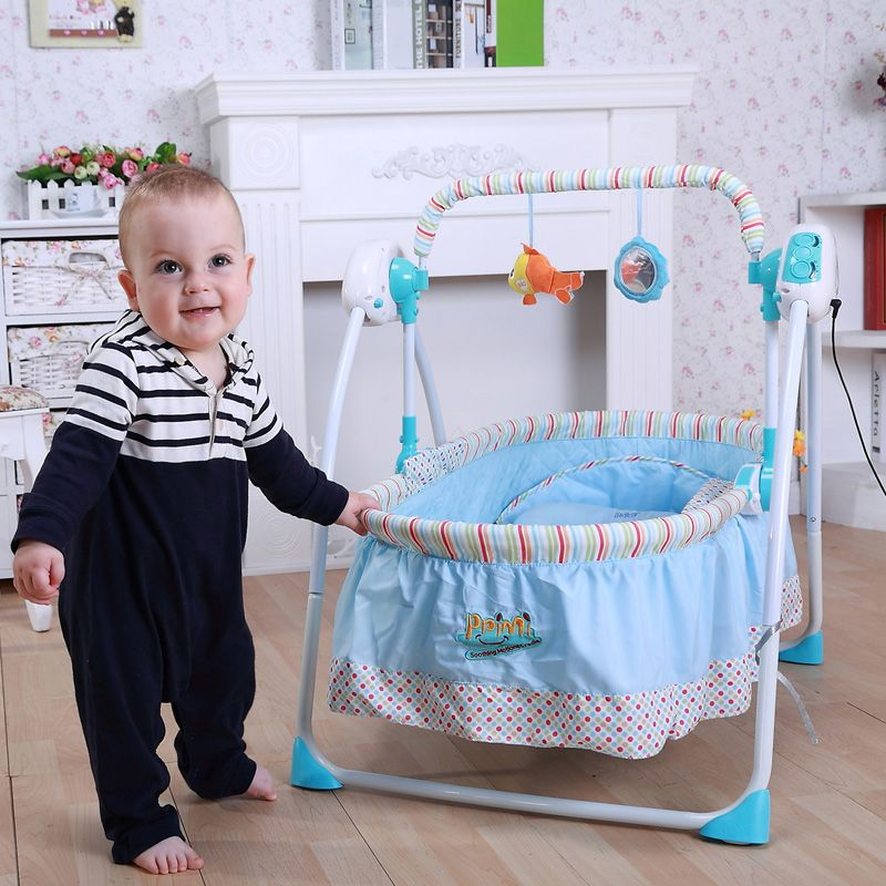 Free Shipping Primi baby electric cradle baby intelligent concentretor baby cradle child bed rocking chair baby crib