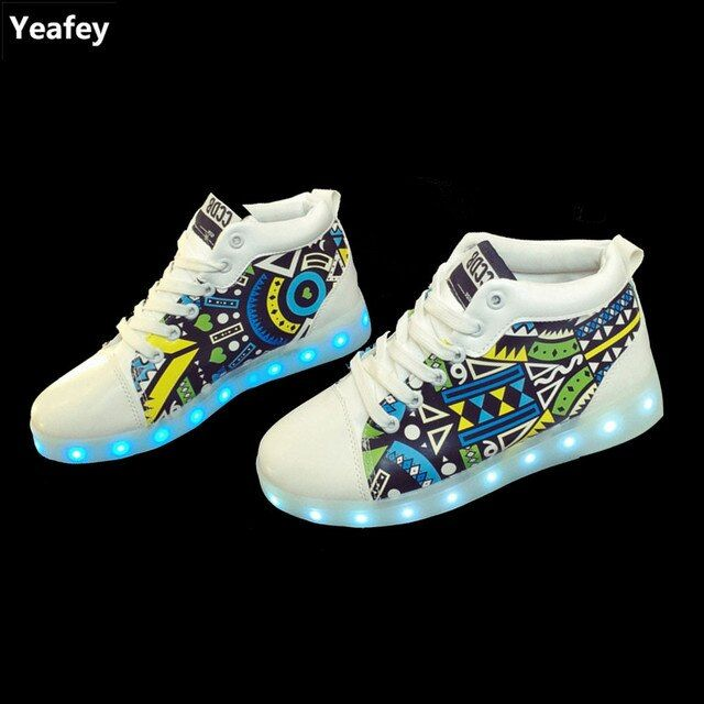 Yeafey Basket Femme Chaussure Lumineuse 2017 Usb Charging Luminous Illuminated Sneakers Woman Lady Shoes Zapatillas Led Mujer