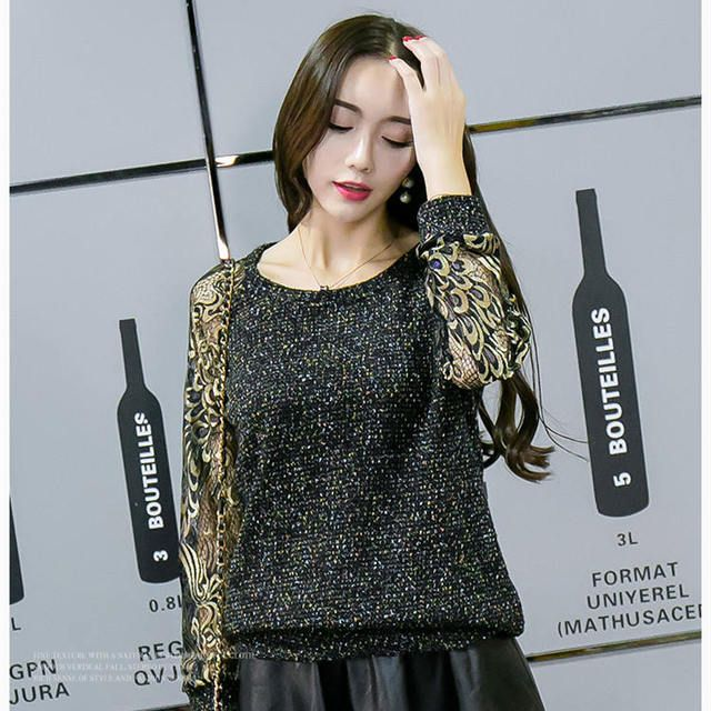 Good quality new autumn fashion round neck was thin attractive women bottoming shirt large size clothing