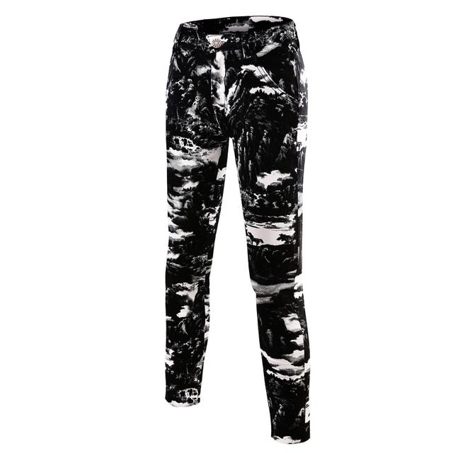outside exercise joggers homme 2018 new Mens Casual pants hip hop trousers fashion Camouflage printed skinny pencil pants