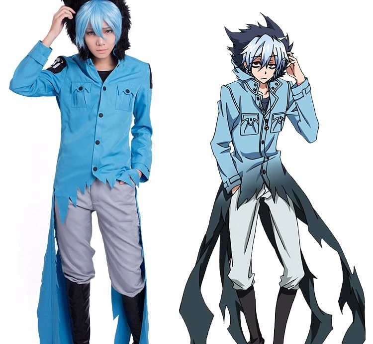 "New Arrival Anime Servamp Men Cosplay Costumes Kuro ""Sleepy Ash or Sloth"" Cosplay Clothing Set Jakcet Pants Full Set"