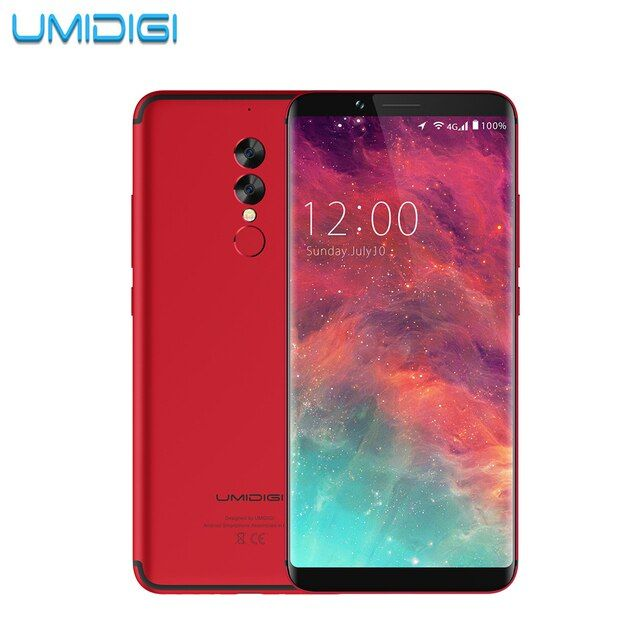 UMIDIGI S2 6.0 inch 4GB RAM 64GB ROM Smartphone P20 Octa Core 5100Mah Battery 1440x720 Dual Camera Mobile Phone 4G LET CellPhone