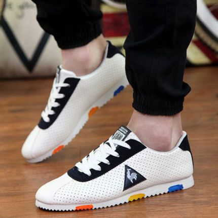 2016 New Summer Men Low Top Shoes Breathable Fashion Casual Lace-up Flats Man Comfortable Forrest Gump Shoes Tide Cock Design