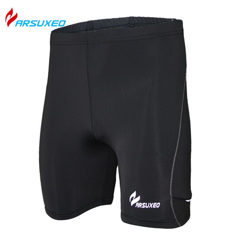ARSUXEO Compression Tights Base Layer Men's Cycling Running Football Soccer Basketball Shorts Gym Fitness Underwear Clothing