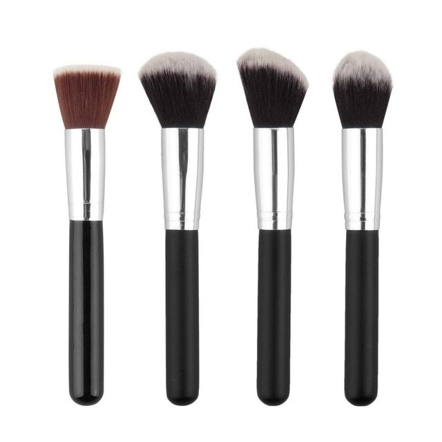 1pc Styling Tools Super NEW Soft Synthetic Large Cosmetic Blending Foundation Silver Makeup Brush Hot Selling