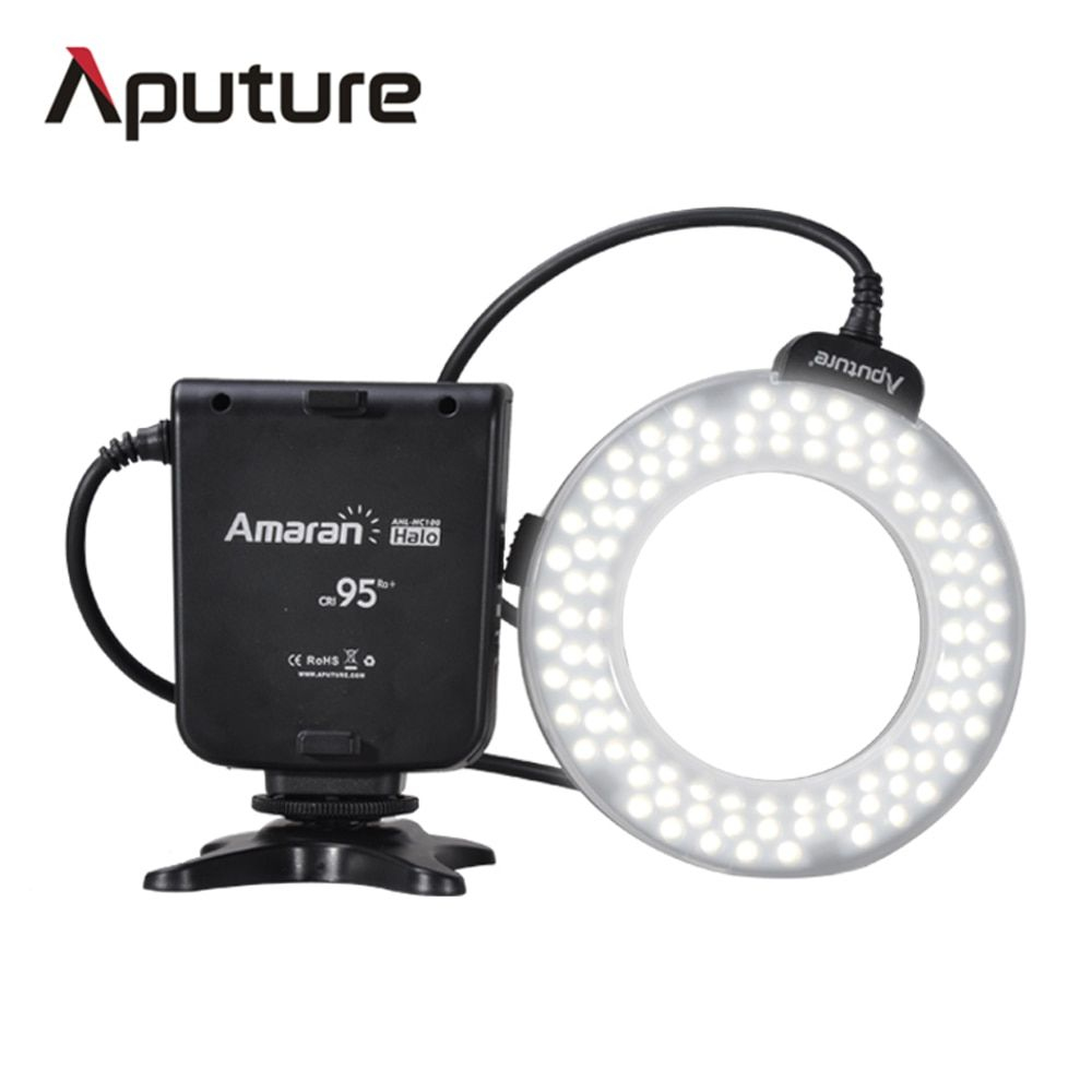 Aputure HC100 CRI 95+ Amaran Halo LED Macro Ring Flash light  For Canon EOS 7D 6D 50D 5D Mark III 5D Mark II 700D 70D