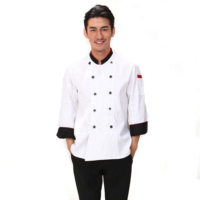 Chef Uniform Long Leeved Breathable Wear Work Uniform Clothes Men Women Overalls Coats Hotel Chef Jacket Uniform Food Service