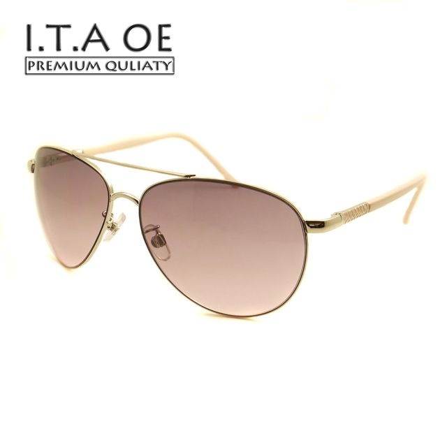 ITAOE KM 0814 Hollywood Fashion Design Sunglasses Alloy Purple Gradient UV 400 Women Female Eyewear Frames Glasses Spectacles