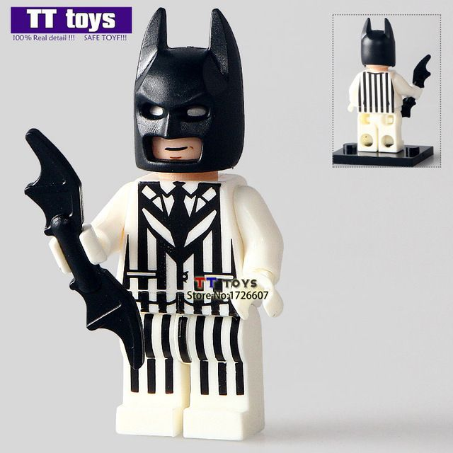 20pcs/lot PG184 Batman Zebra Suit Justice League DC Super Heroes Batman Building Blocks Movies Toys for Children PG8047