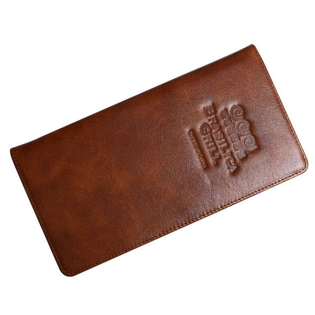 50 pcs/lot Brown Color Genuine Leather Menu Holder Restaurant Menu Cover Cafe Bar List Folder Accept Customized Order