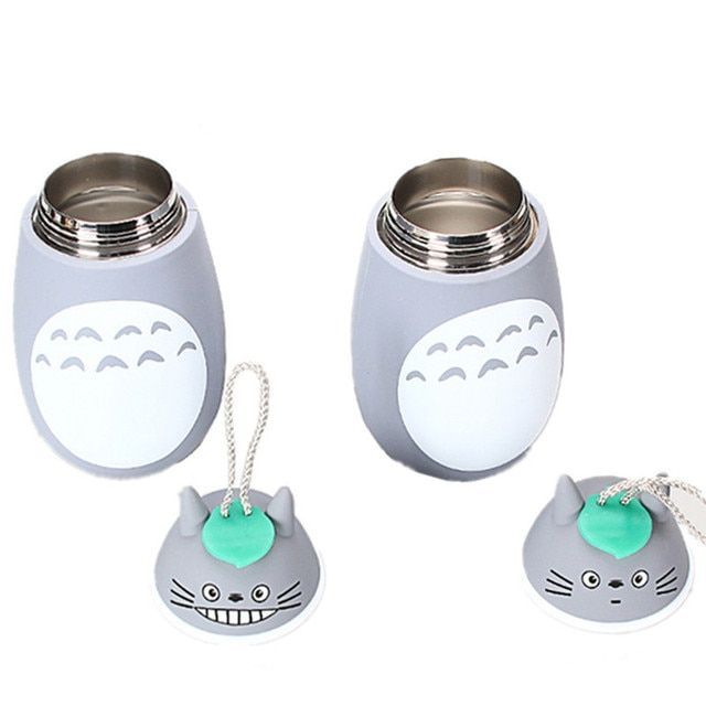 New Totoro water kettle bottle stainless steel cartoon drinkware friend gift  insulation