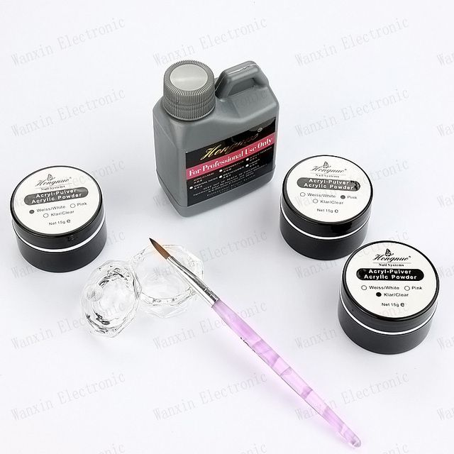 Pro Acrylic Powder Liquid Monomer False Acrylic Nail  Salon Tool Manicure Nail Art For Acrylic Powder Dust Nails Tips Powder