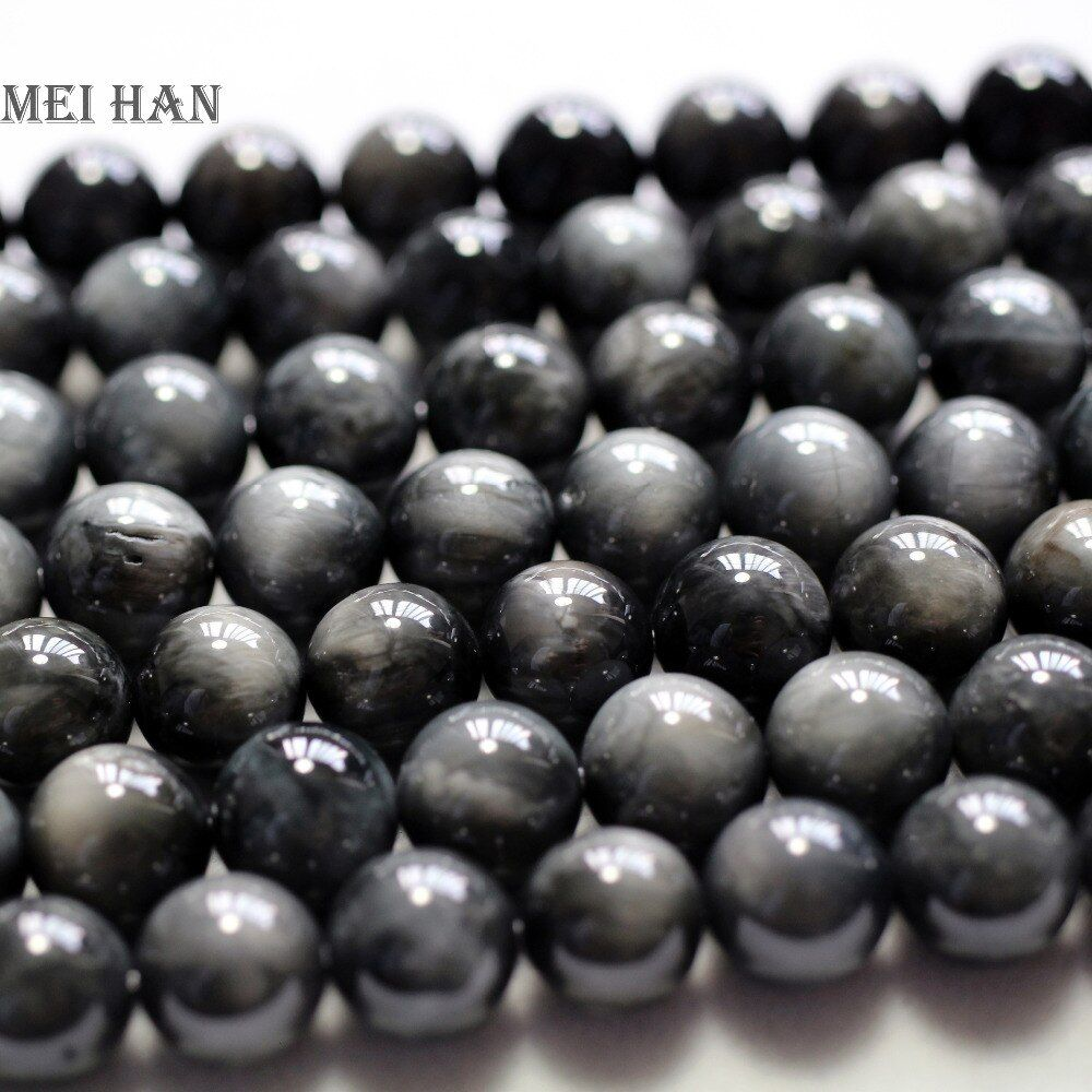 Wholesale (38beads/set) 10+-0.2mm natural Brazil cat's eye smooth round fashion stone beads for jewelry making DIY bracelet