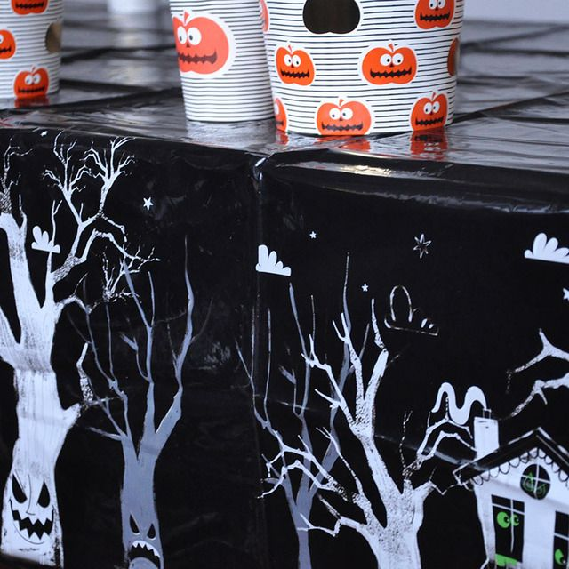 New arrival 2pcs/pack 120*180cm Halloween Plastic Party Table cloth Table cover Halloween party decoration  disposable