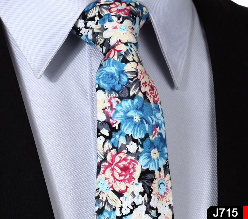 "Floral 3.4"" 100% Cotton Wedding Party Classic Jacquard Woven Men Tie Necktie J7"