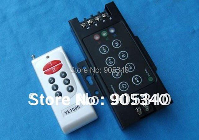 RF 8key RGB controller Wireless LED controller with remote ,DC12-24V rgb controller rf ,wireless controller