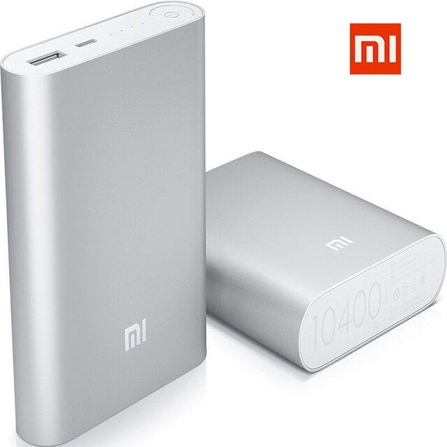 Original Xiaomi Universal 100% Genuine Mi USB Power Bank Battery Charger 5V 2A 10400mAh For All Smartphones in Red,Gold,Silver