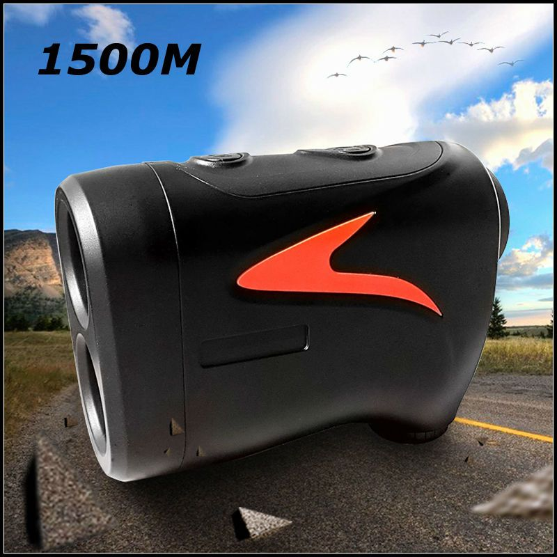 1500M  Golf Laser Rangefinder 6X Monocular Pinseeker Leavel Height Angle Measuring Match Watching Hunting Range Finder