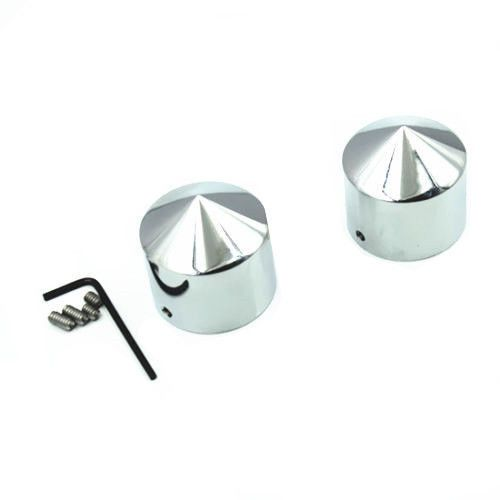 Chrome 29mm Front Axle Nut Covers for Harley Road Glide Dyna V-Rod Honda Suzuki Kawasaki Yamaha Choppers