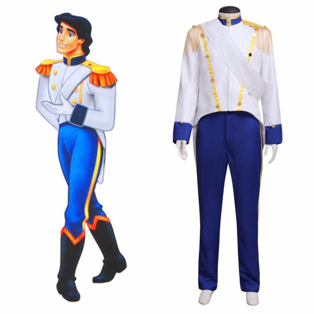 Prince Eric Costume Cosplay The Little Mermaid Custom Made Adult's Jacket Pants Costume Cosplay for Halloween Carnival Party