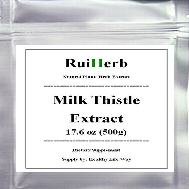 17.6oz (500g) Milk Thistle Extract (80%Silymarin) Powder free shipping