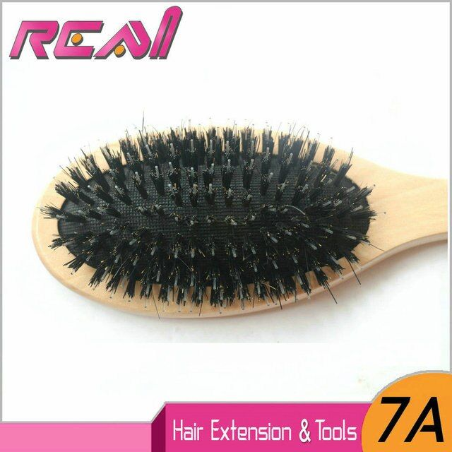 1 PC Sample 24cm*6cm Boar Bristle Hair Brush, Hair Extensions Brush for Salon Use, Boar Bristle with Nylon
