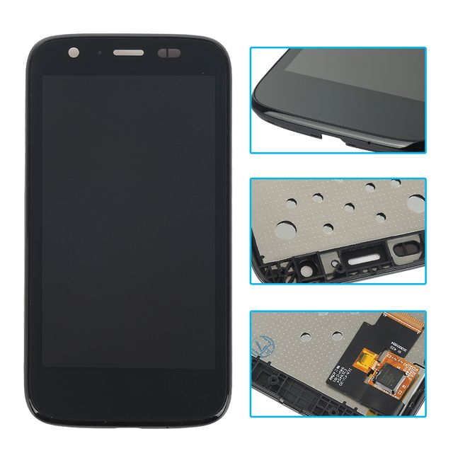 For Motorola MOTO G XT1032 XT1033 LCD Display touch Screen with Digitizer with Bezel Frame full Assembly replacement parts