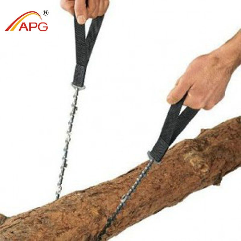 APG 65cm Outdoor Survival Pocket Chainsaw and Camping Gardening Hand Chain Saw