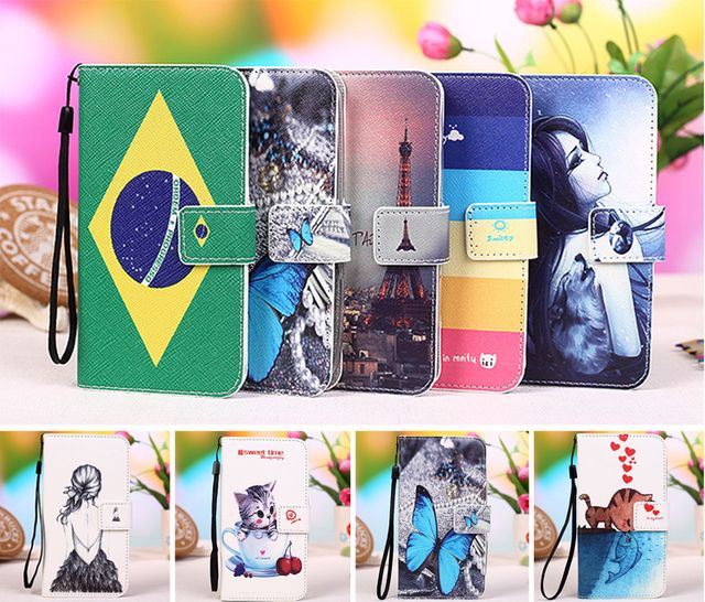 "AllView V1 Viper E Case,Multi colors Flip PU Leather Phone Wallet Cases For AllView V1 Viper E 4.5"" Phone cover +Tracking"