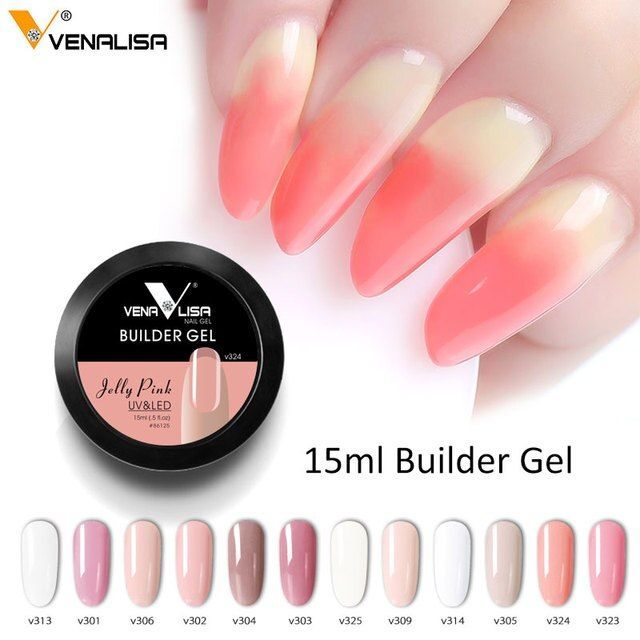 CANNI Builder Gel 15ml French Tips Venalisa Acrylic Gel Nude Pink High Quality Camouflage Jelly Color Nail Extending UV LED Gel