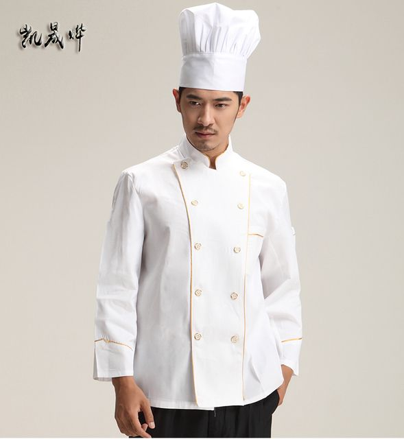 Cook suit long-sleeve male plus size pastry clothes work wear