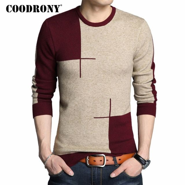 COODRONY 2018 Winter New Arrivals Thick Warm Sweaters O-Neck Wool Sweater Men Brand Clothing Knitted Cashmere Pullover Men 66203
